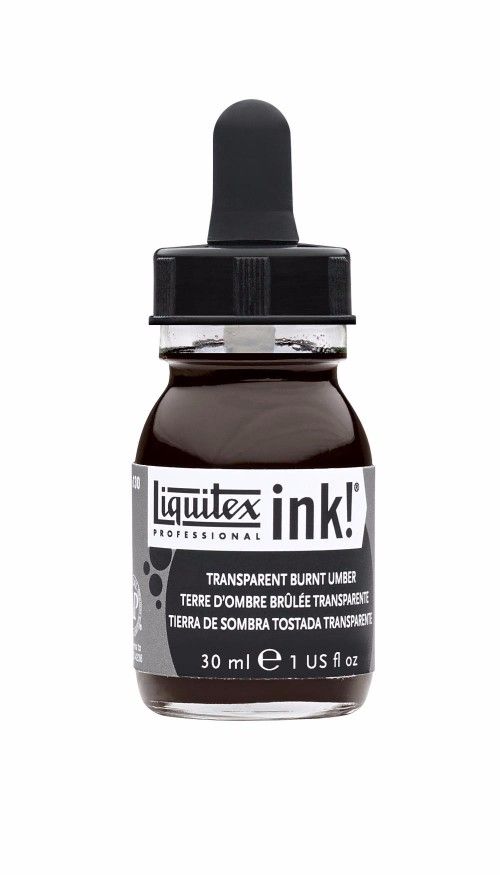 Akrylfärg Liquitex Prof. Ink 30ml  Transparent burnt umber 130 (3F)