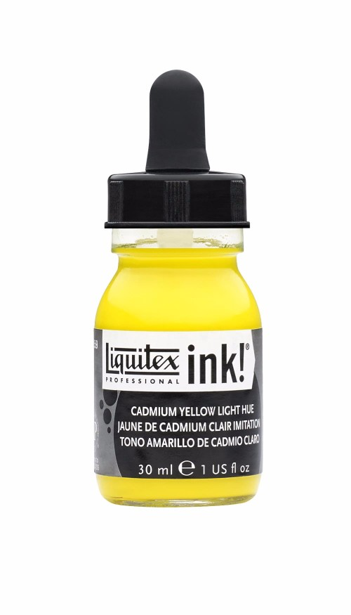 Akrylfärg Liquitex Prof. Ink 30ml  Cadmium yellow light hue 159 (3F)