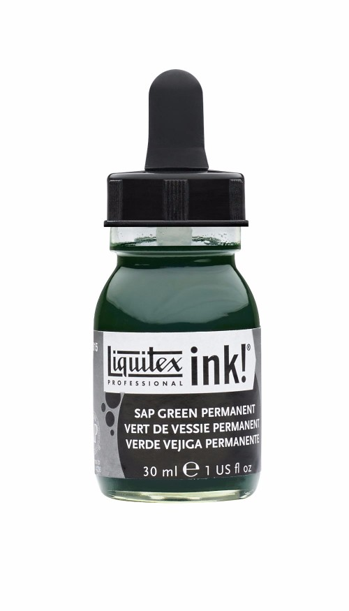 Akrylfärg Liquitex Prof. Ink 30ml  Sap green permanent 315 (3F)