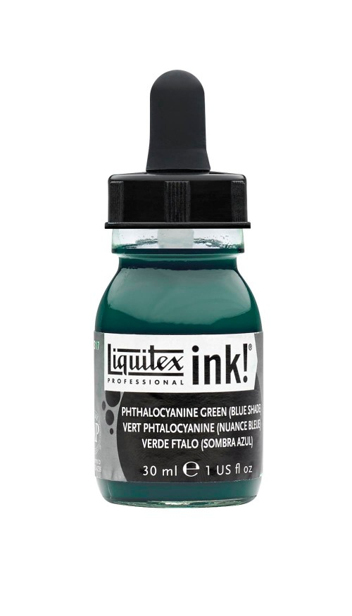 Akrylfärg Liquitex Prof. Ink 30ml  Phthalocyanine green (bs) 317 (3F)