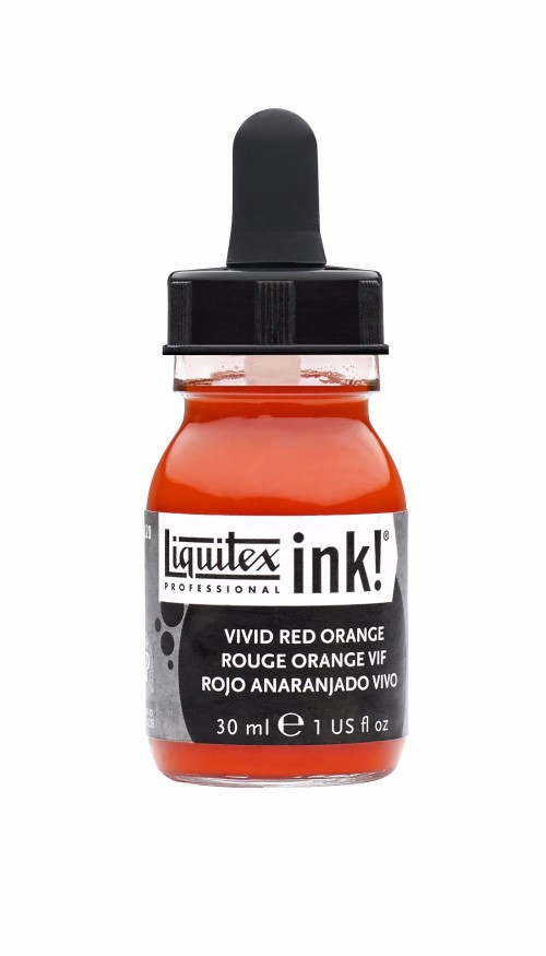 Akrylfärg Liquitex Prof. Ink 30ml  Vivid red orange 620 (3F)