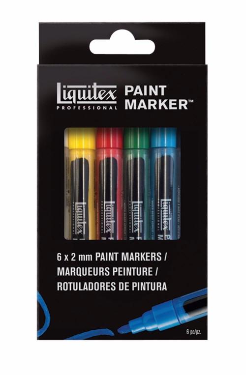 Akrylmarkerset Liquitex  LQX Paint Marker Fine 6 set