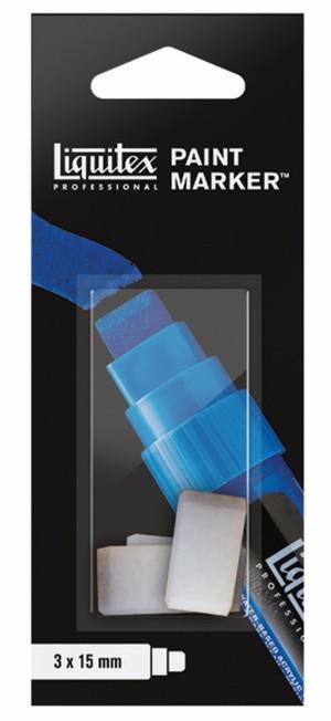 Akrylmarkerset Liquitex  LQX Paint Marker Wide Nib Pack 3-p