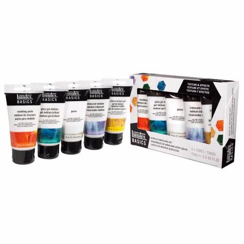 Akrylmedium Liquitex  Basics Medium Set  5x75ml
