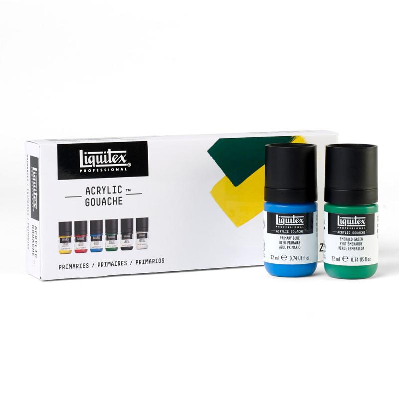 Akrylgouachefärgset Liquitex 6X22ml Primaries