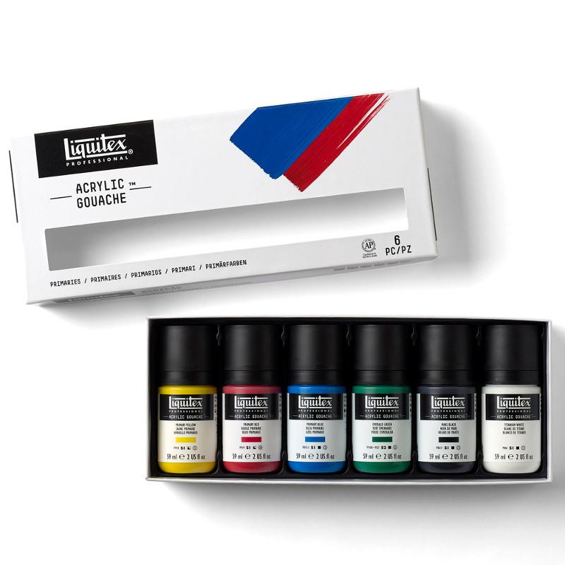 Akrylgouachefärgset Liquitex 6X59ml Primaries