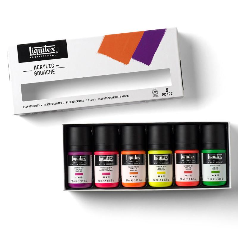 Akrylgouachefärgset Liquitex 6X59ml Fluorescent