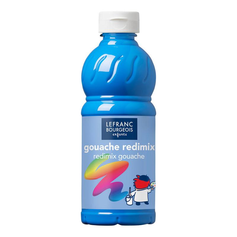 Skolfärg Redimix L&B 500ml Fluoriserande blå 083 (10F)