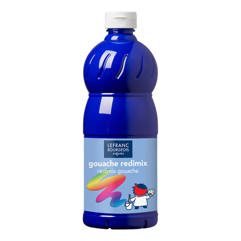 Skolfärg L&B Redimix 1 L 054 Klarblå - brilliant blue (ultramarine)