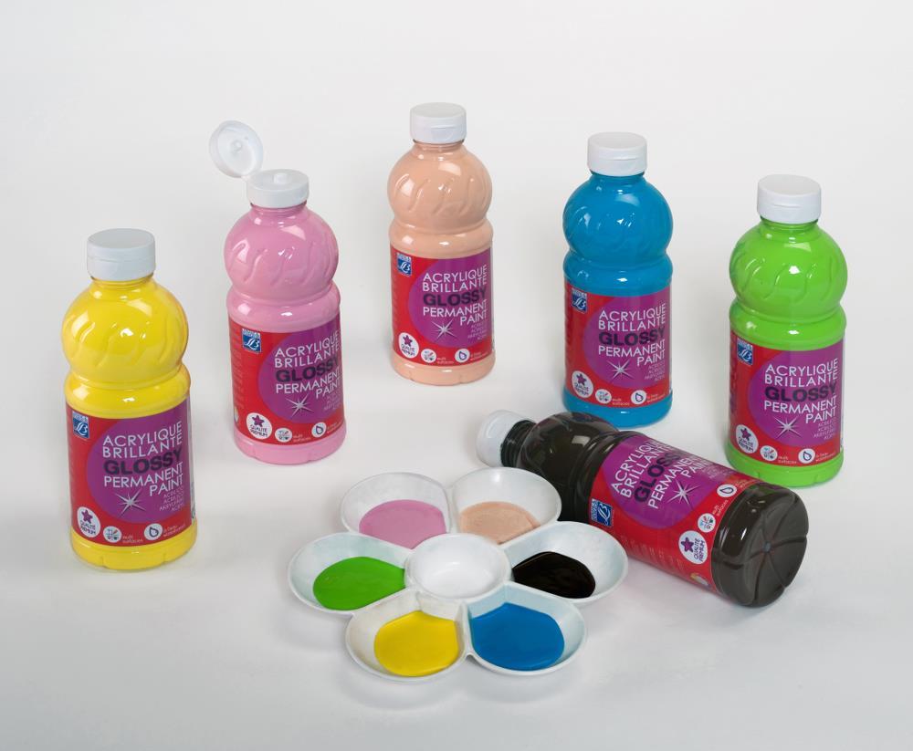 Skolfärgset L&B Education  Akrylfärg glossy 6x250 ml