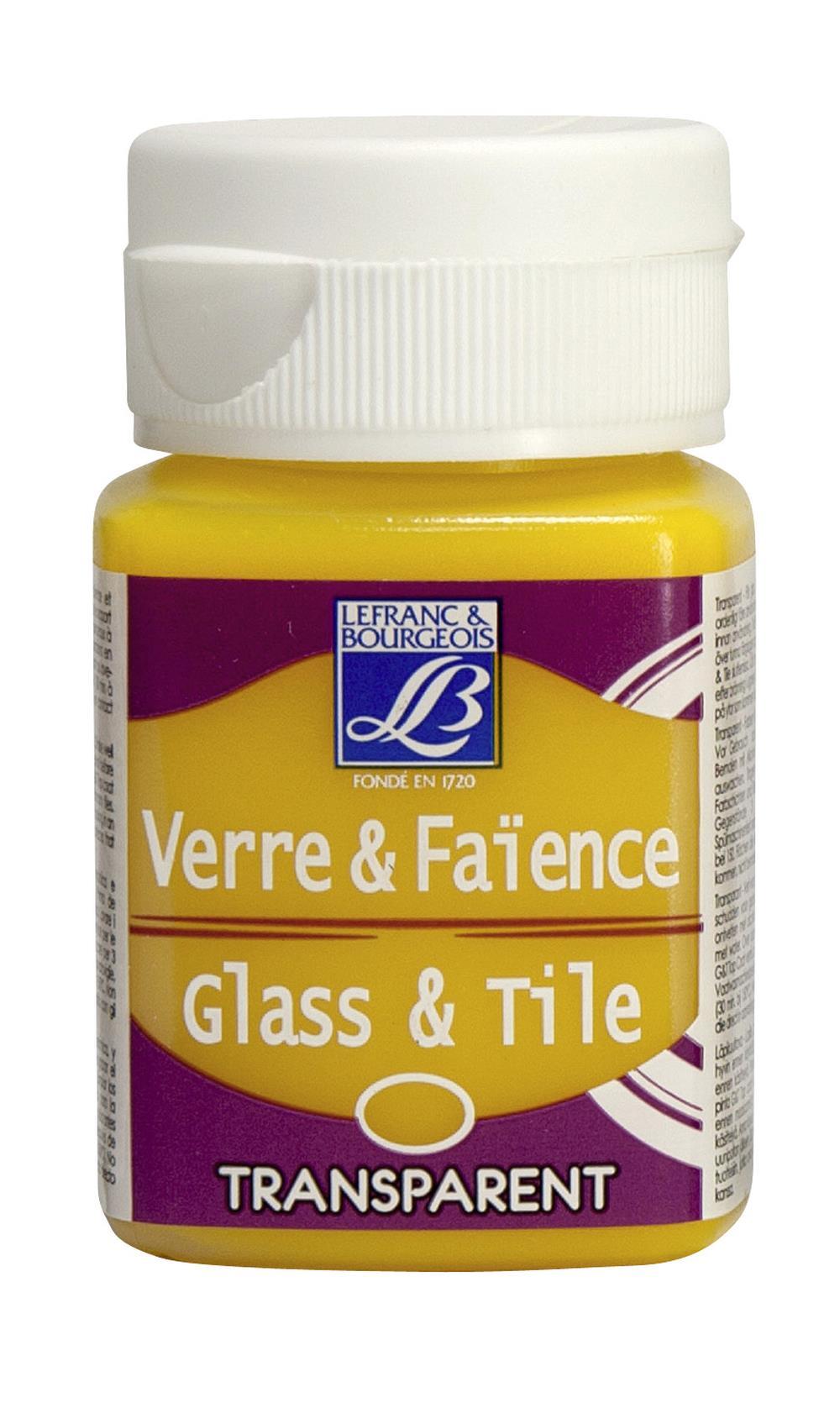 Glas- & keramikfärg L&B 50ml  Citrongul, transparent 169 (4F)