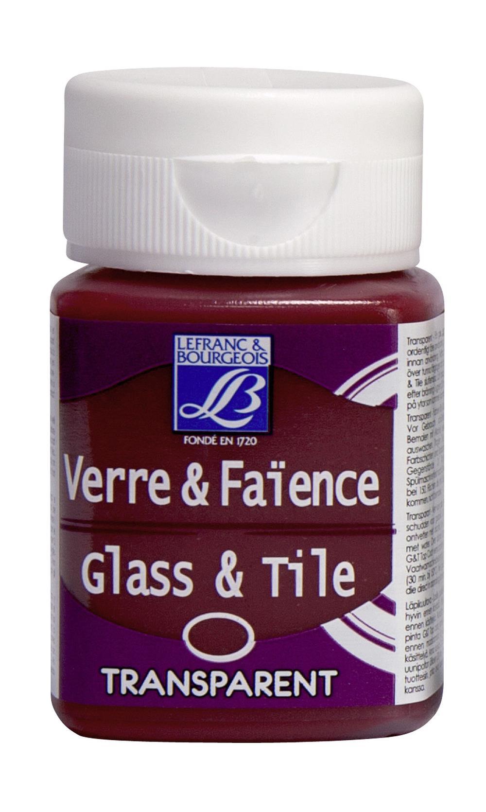 Glas- & keramikfärg L&B 50ml  Klarröd, transparent 325 (4F) Utgår