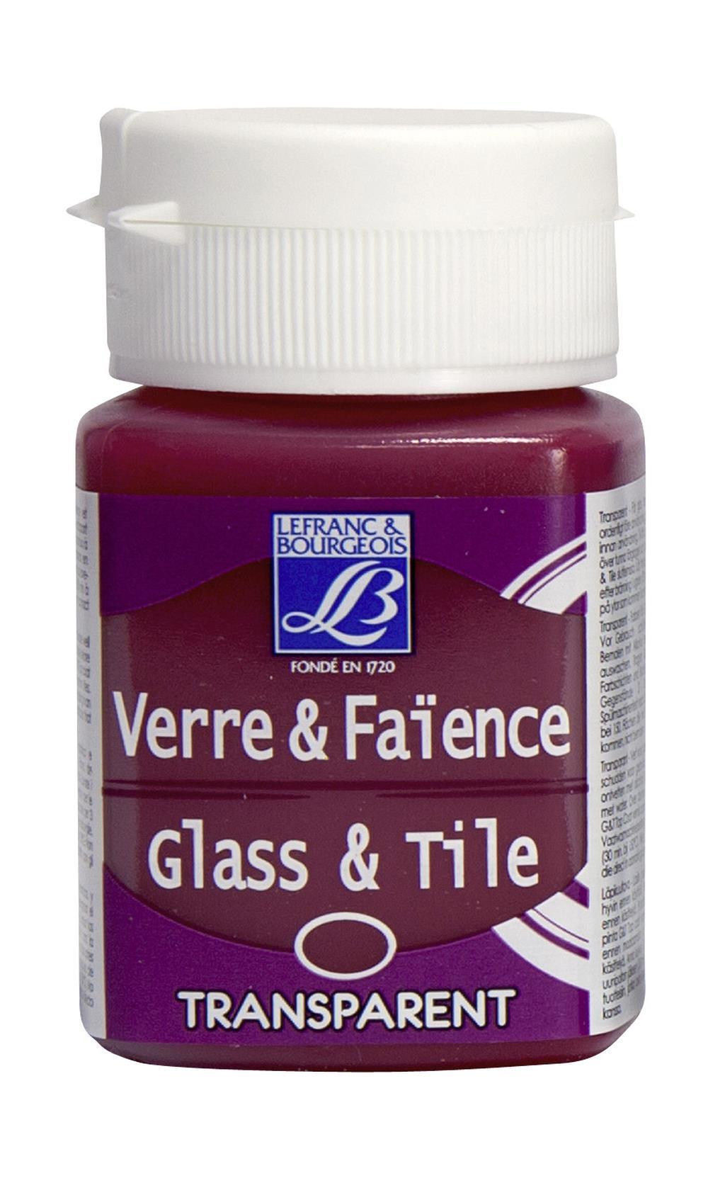 Glas- & keramikfärg L&B 50ml  Rosa, transparent 412 (4F) Utgår