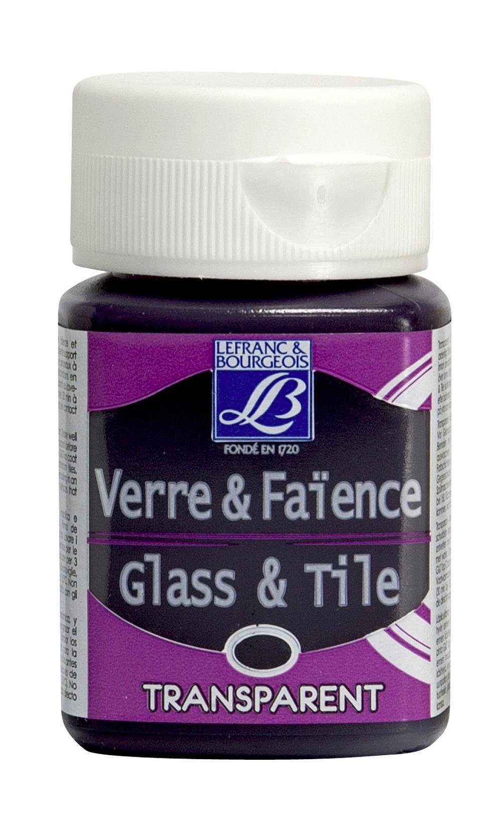 Glas- & keramikfärg L&B 50ml  Purpurlila, transparent 350 (4F) Utgår