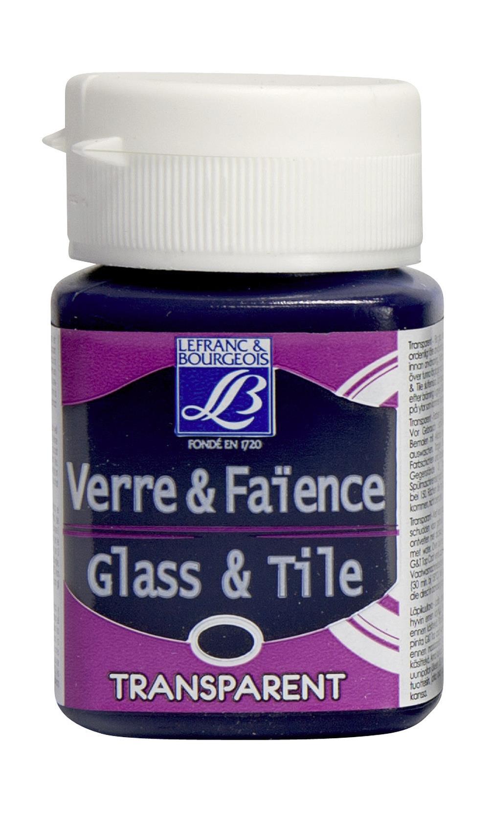 Glas- & keramikfärg L&B 50ml  Mörkblå, transparent 647 (4F) Utgår