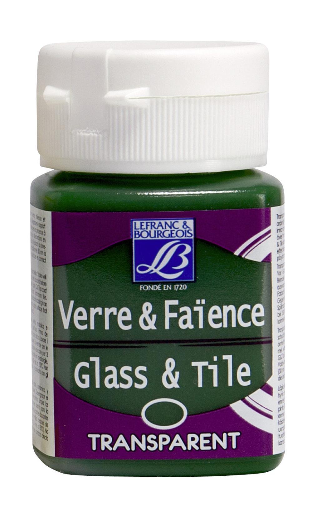 Glas- & keramikfärg L&B 50ml  Ljusgrön, transparent 545 (4F) Utgår