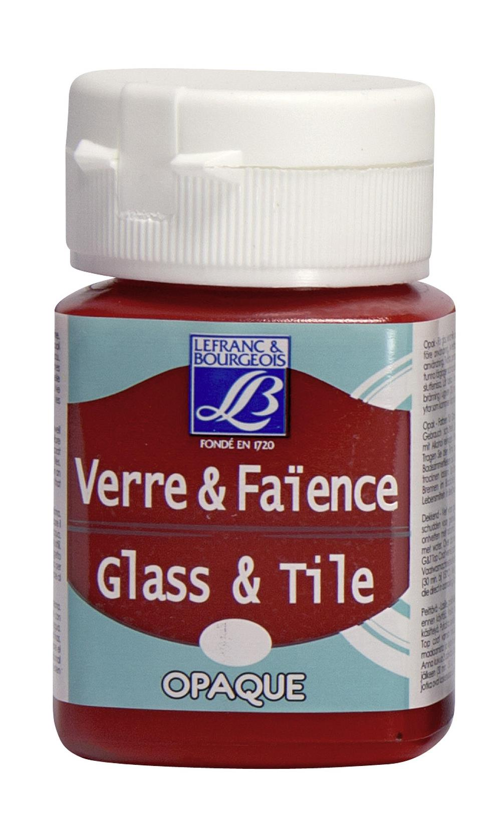 Glas- & keramikfärg L&B 50ml  Klarröd, opak 323 (4F) Utgår