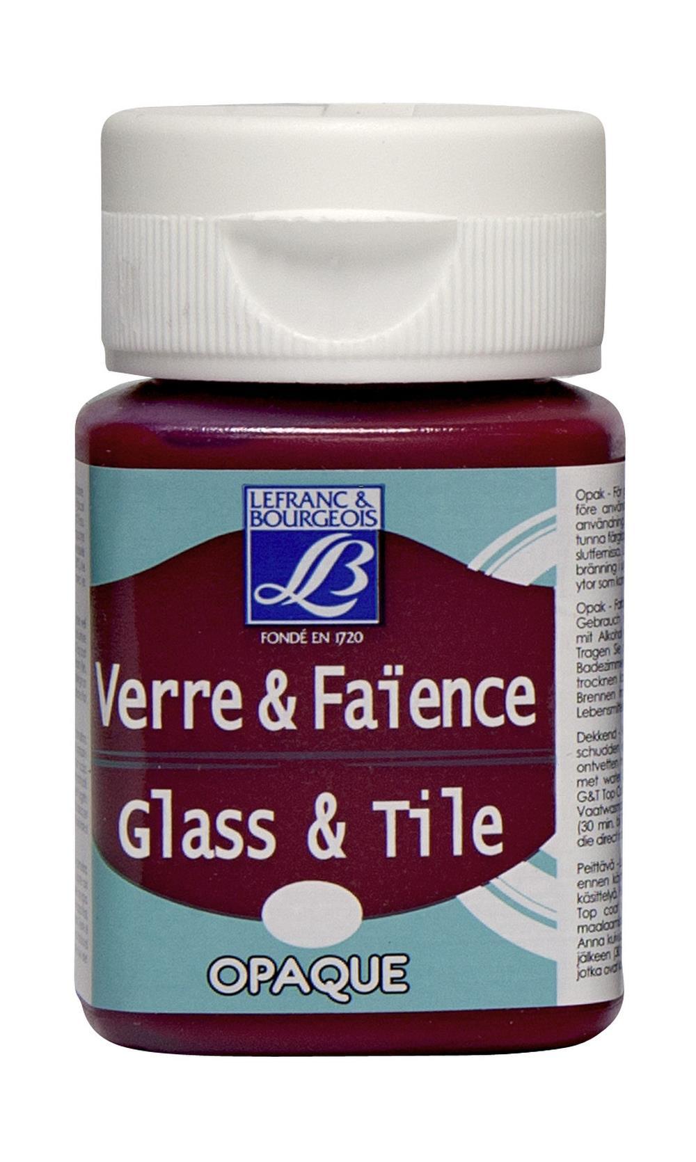 Glas- & keramikfärg L&B 50ml  Karminröd, opak 324 (4F) Utgår