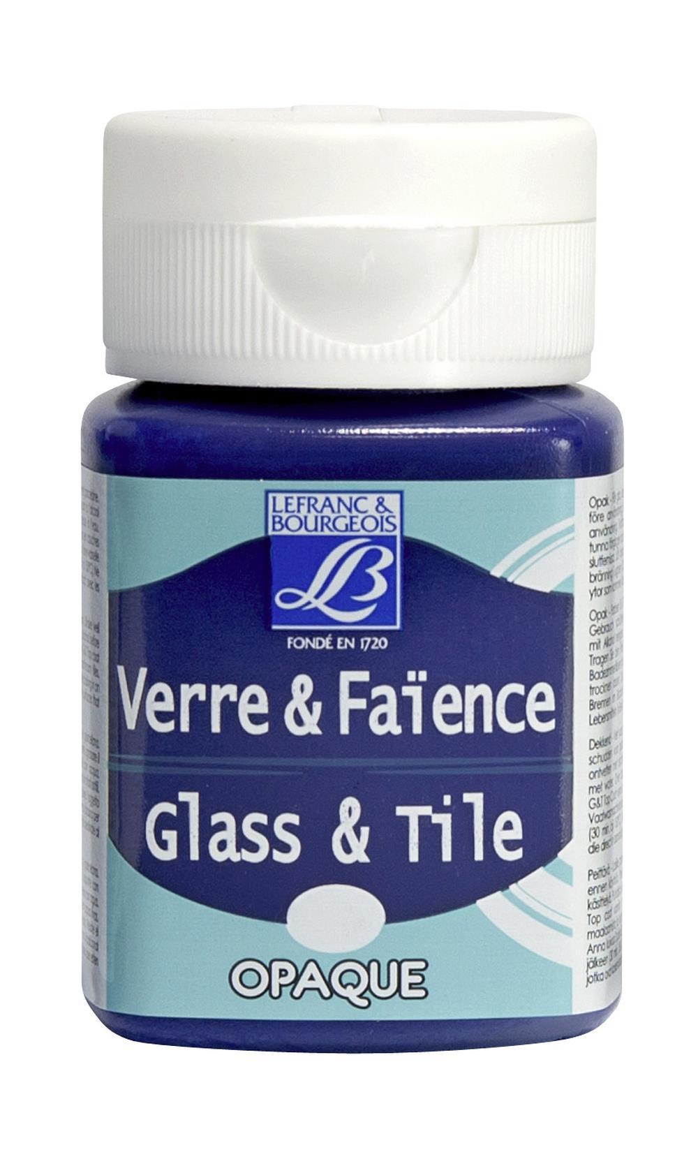 Glas- & keramikfärg L&B 50ml  Mörkblå, opak 650 (4F) Utgår