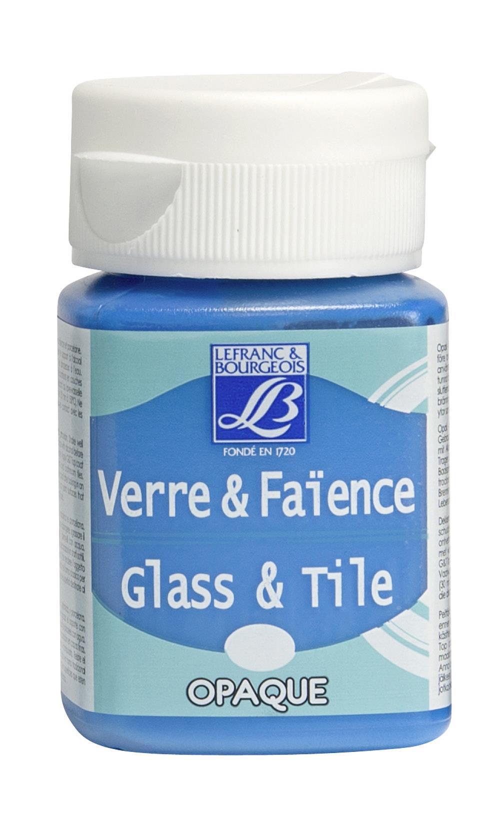 Glas- & keramikfärg L&B 50ml  Azurblå, opak 035 (4F) Utgår