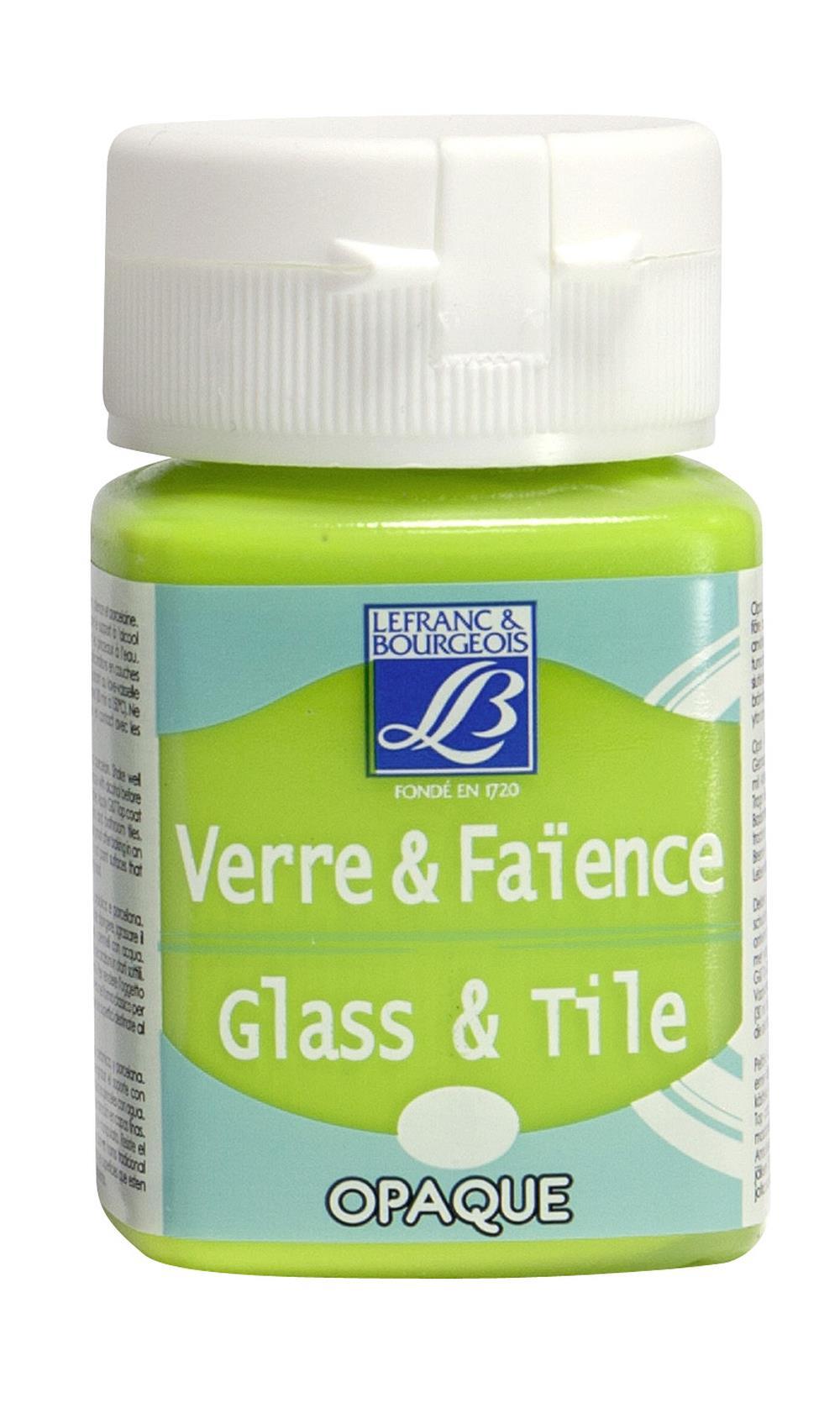 Glas- & keramikfärg L&B 50ml  Gulgrön, opak 444 (4F) Utgår