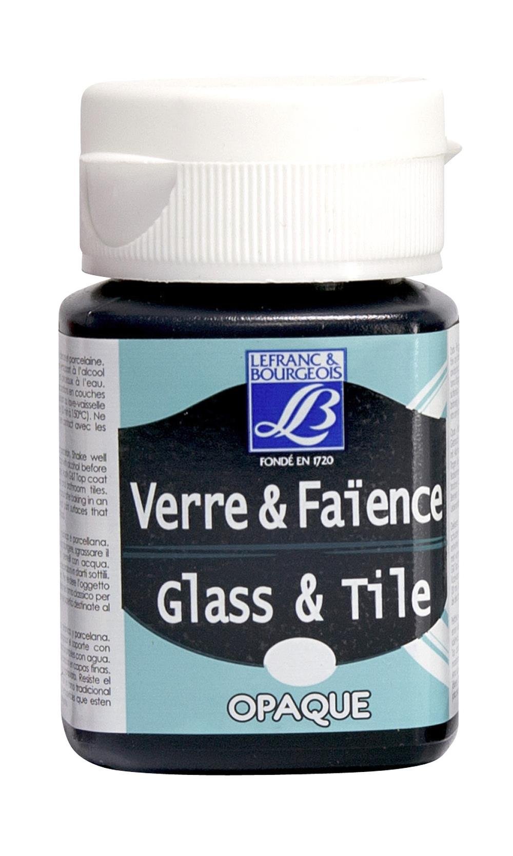 Glas- & keramikfärg L&B 50ml  Svart, opak 268 (4F) Utgår