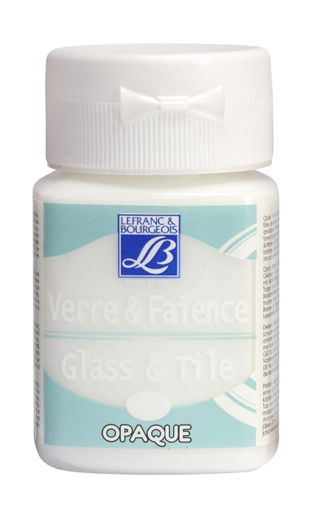 Glas- & keramikfärg L&B 50ml  Porslinsvit, opak 018 (4F) Utgår