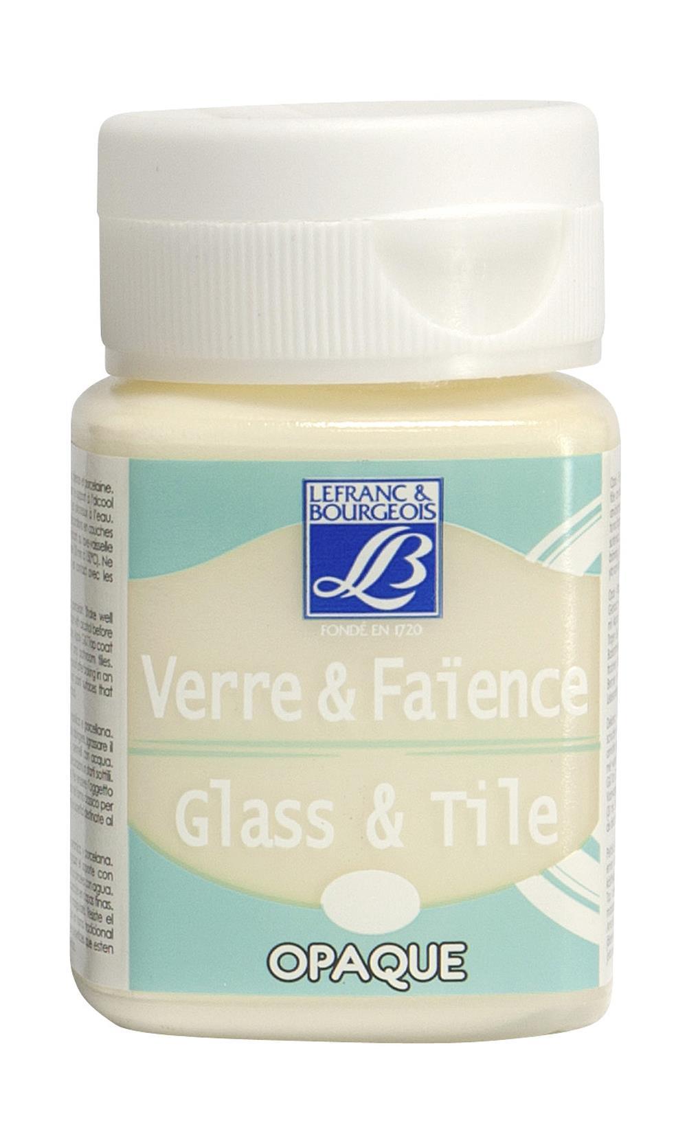Glas- & keramikfärg L&B 50ml  Elfenbensvit, opak 019 (4F) Utgår