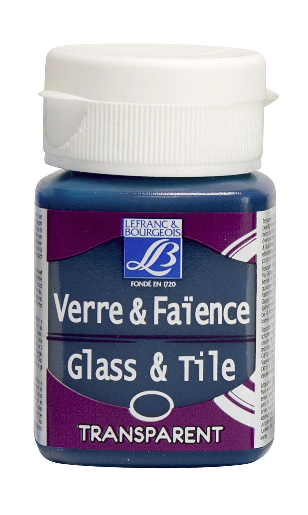Glas- & keramikfärg L&B 50ml  Turkosblå, transparent  058 (4F) Utgår