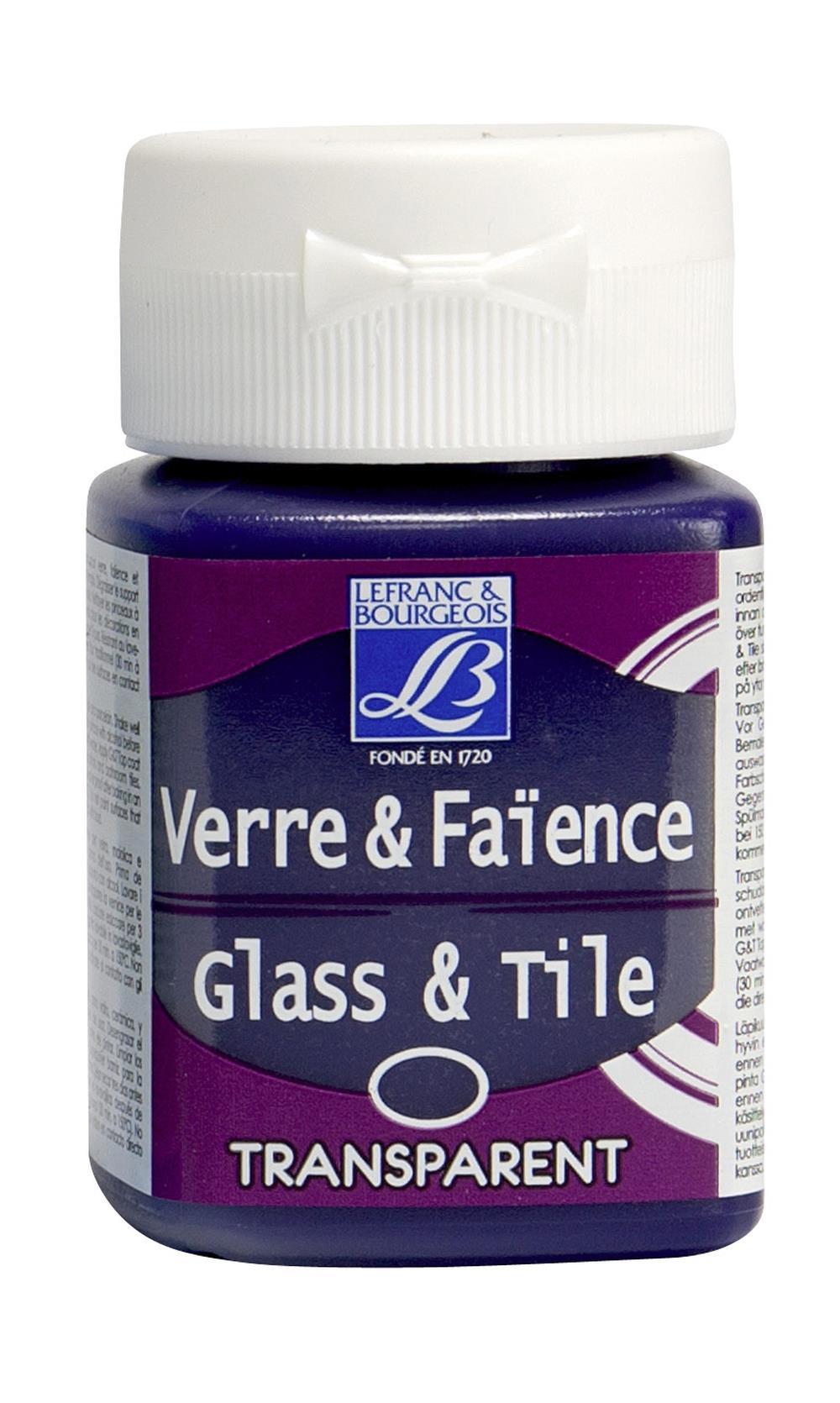Glas- & keramikfärg L&B 50ml  Parmaröd, transparent  619 (4F) Utgår