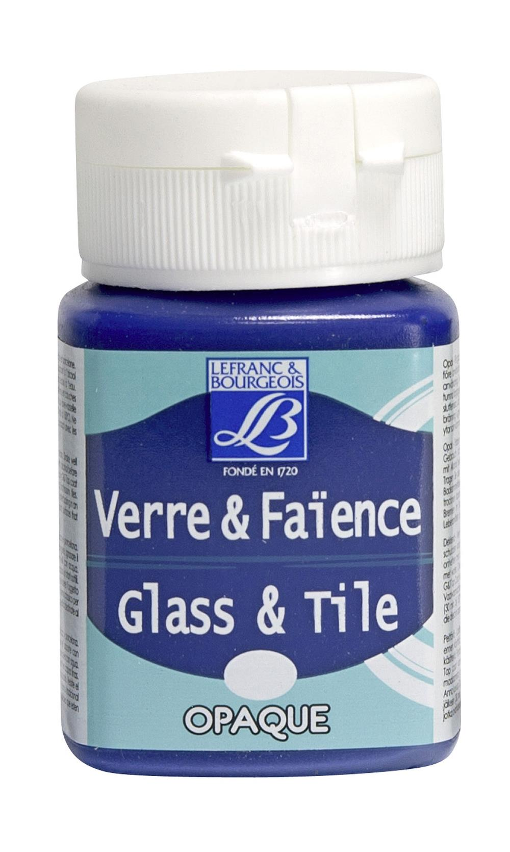 Glas- & keramikfärg L&B 50ml  Bengalisk blå, opak 908 (4F) Utgår
