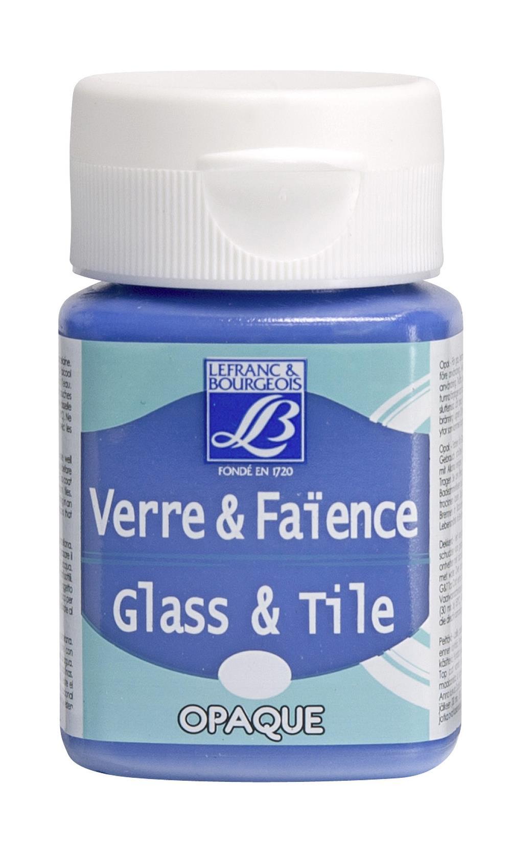 Glas- & keramikfärg L&B 50ml  Vågskumsblå, opak   658 (4F) Utgår