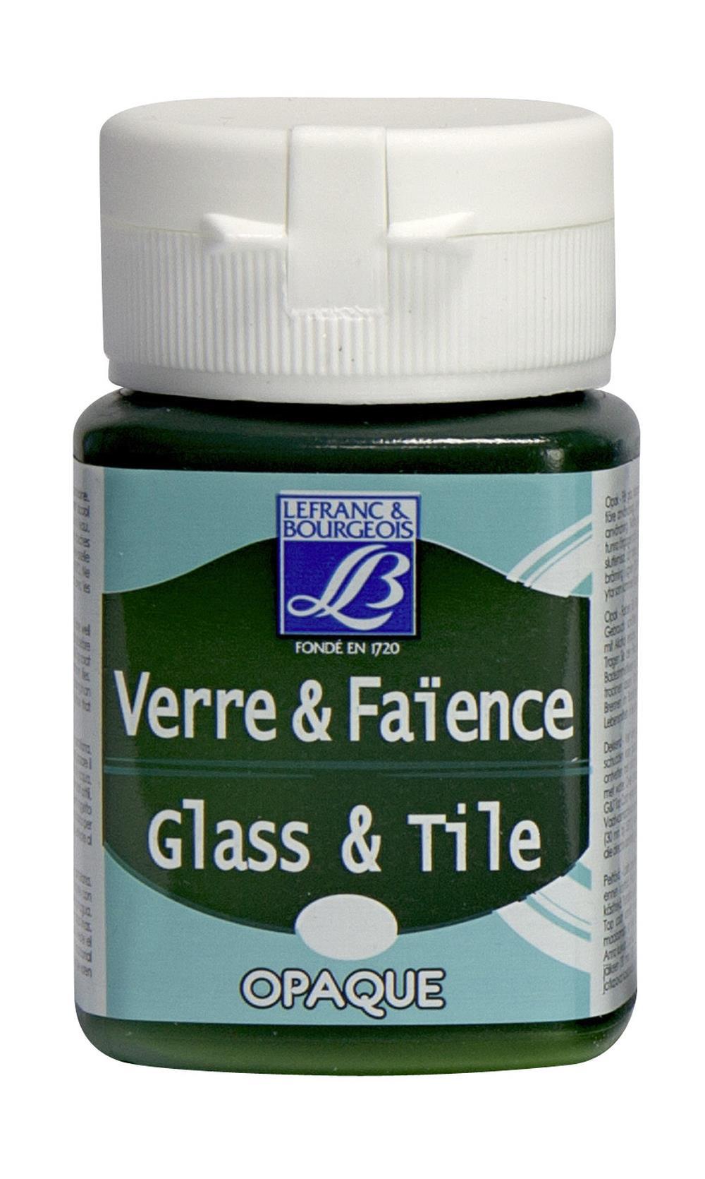 Glas- & keramikfärg L&B 50ml  Tegrön, opak  524 (4F) Utgår