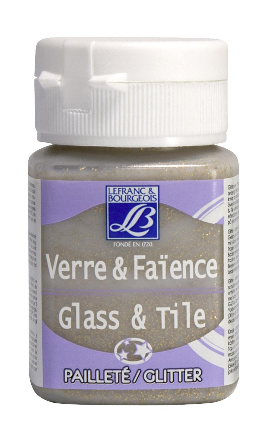 Glas- & keramikfärg L&B 50ml  Guld, glitter  718 (4F) Utgår