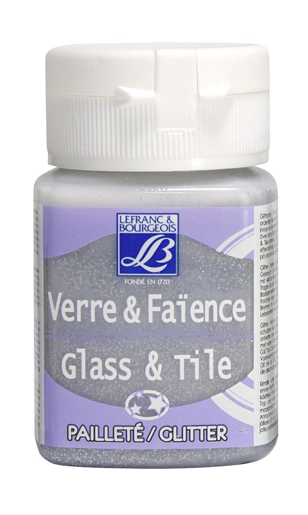 Glas- & keramikfärg L&B 50ml  Silver, glitter 719 (4F) Utgår
