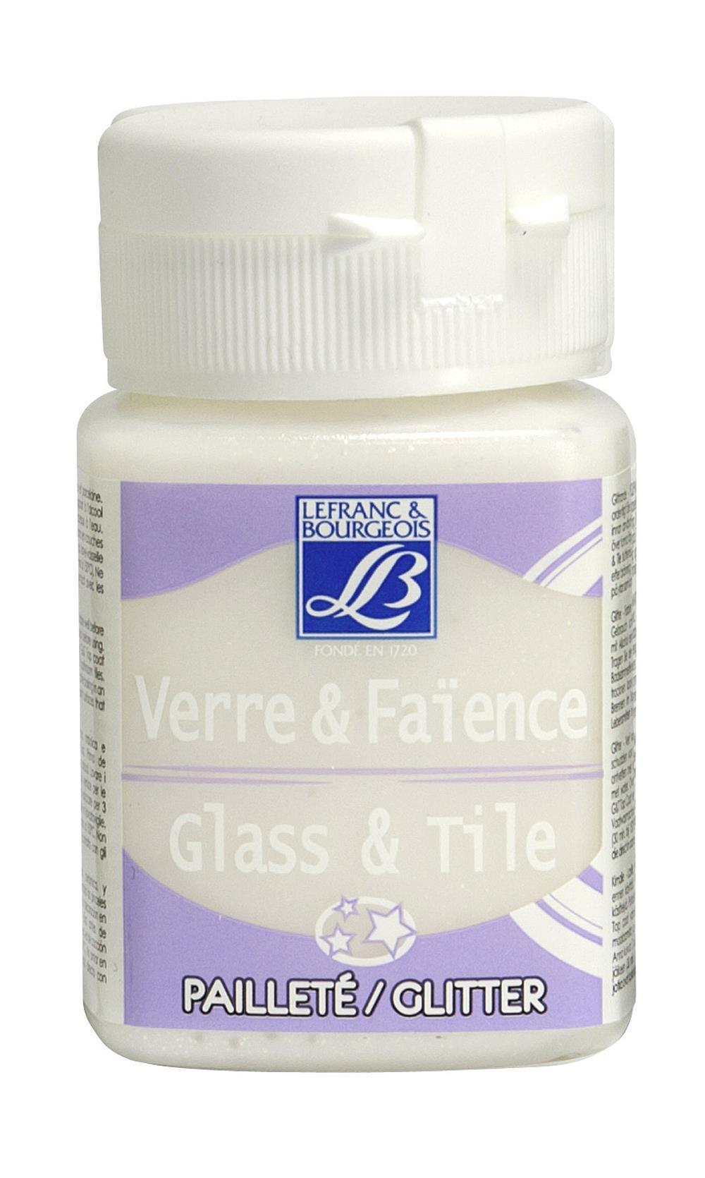 Glas- & keramikfärg L&B 50ml  Kristall, glitter 698 (4F) Utgår