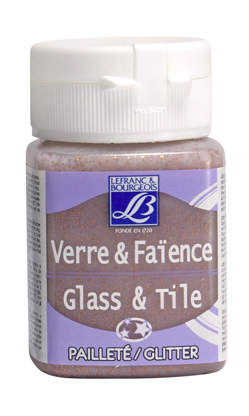 Glas- & keramikfärg L&B 50ml  Koppar, glitter 707 (4F) Utgår