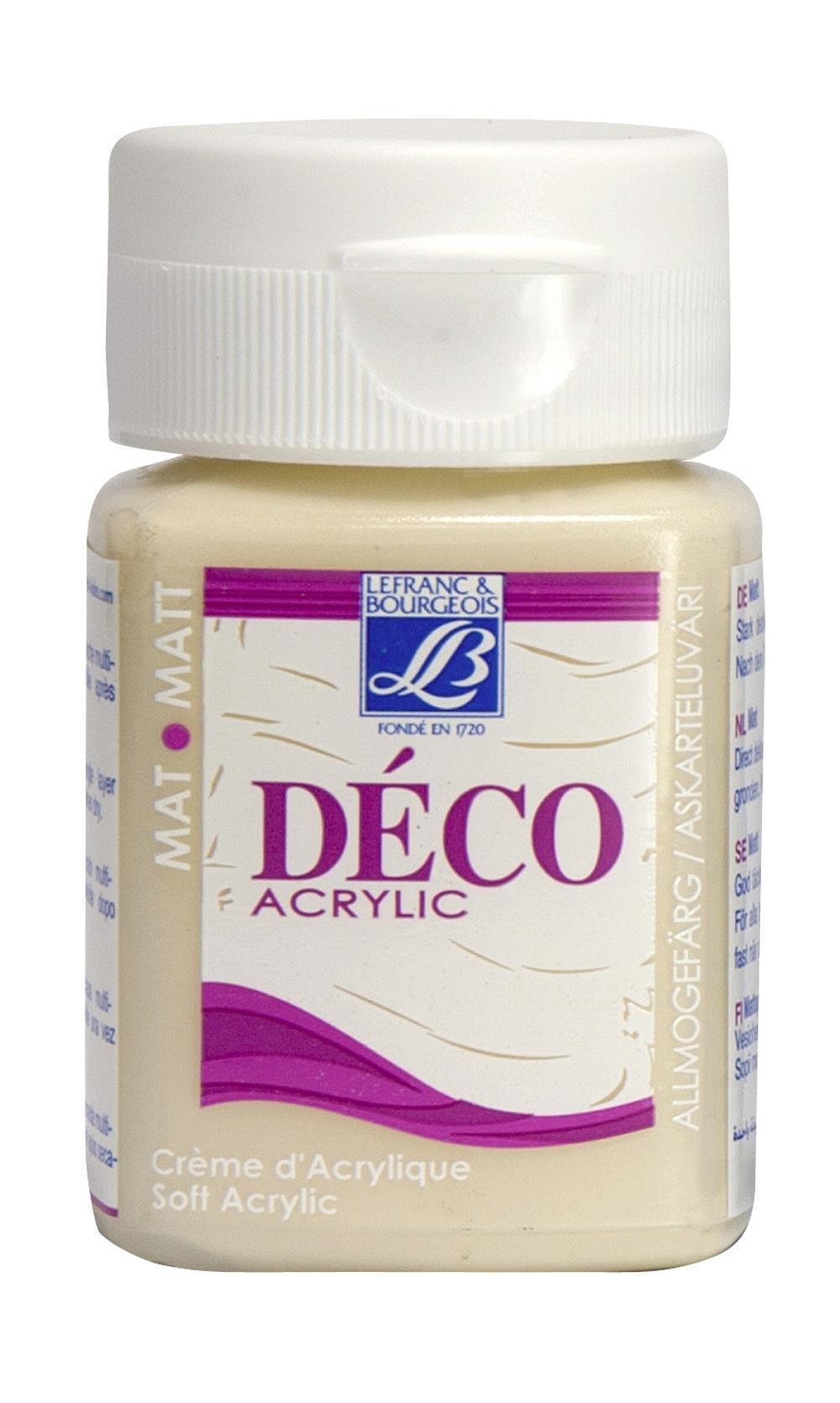 Hobbyfärg L&B Deco Matt Akryl 50ml Cafe cream warm 872 (4F)