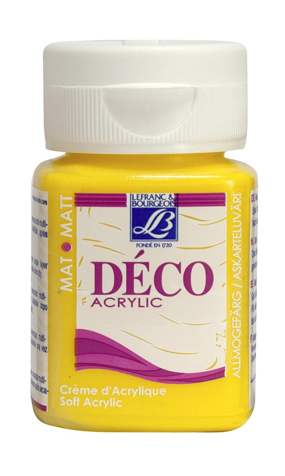Hobbyfärg L&B Deco Matt Akryl 50ml Daffodil intensive 172 (4F) Utgår