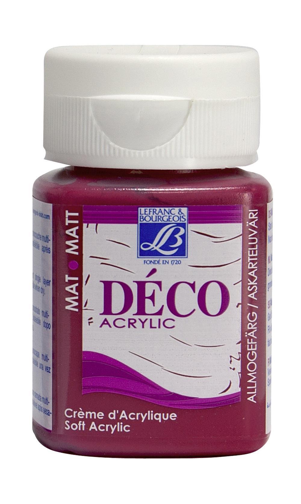 Hobbyfärg L&B Deco Matt Akryl 50ml Passion red warm 323 (4F) Utgår