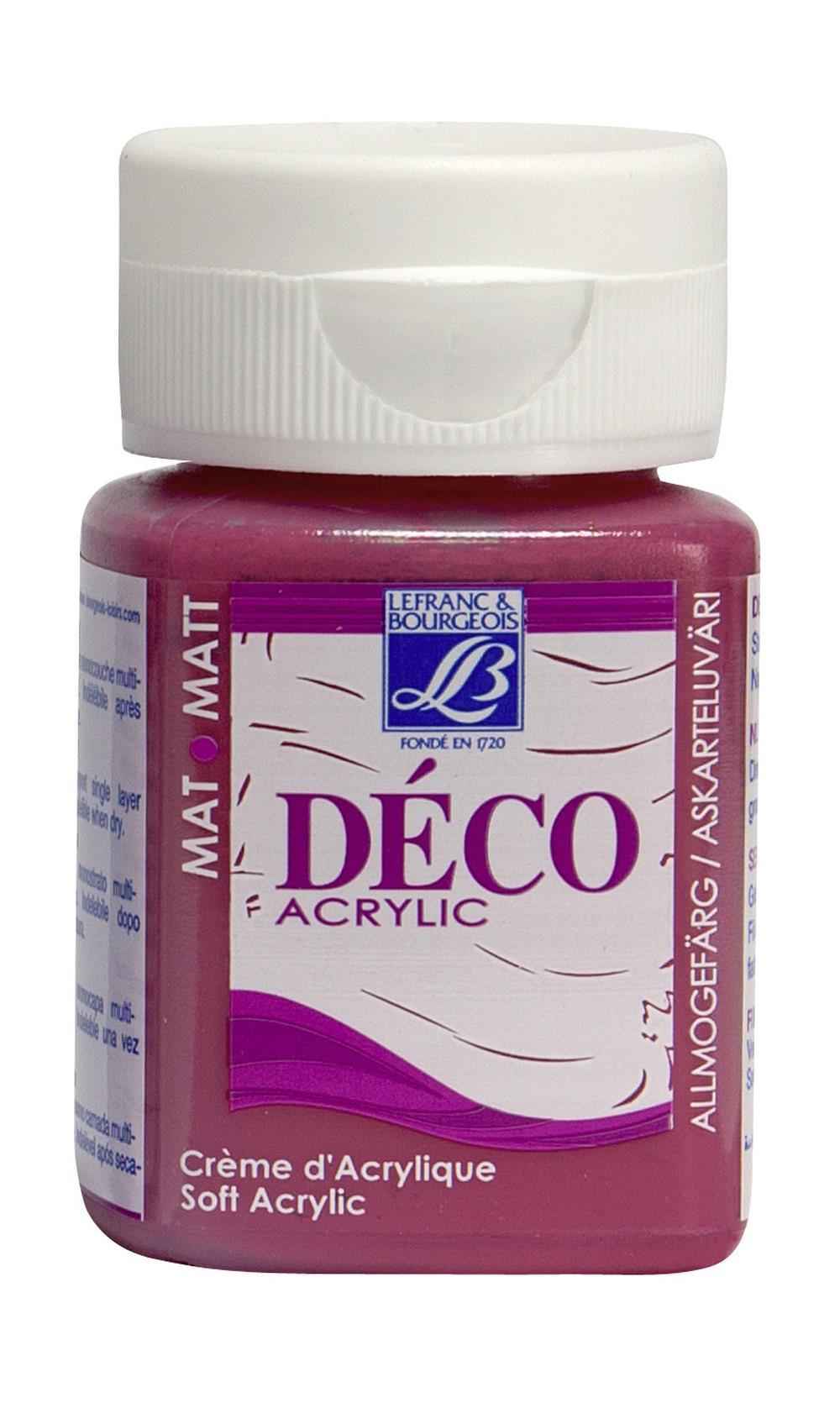 Hobbyfärg L&B Deco Matt Akryl 50ml Fuchsia intensive 443 (4F) Utgår