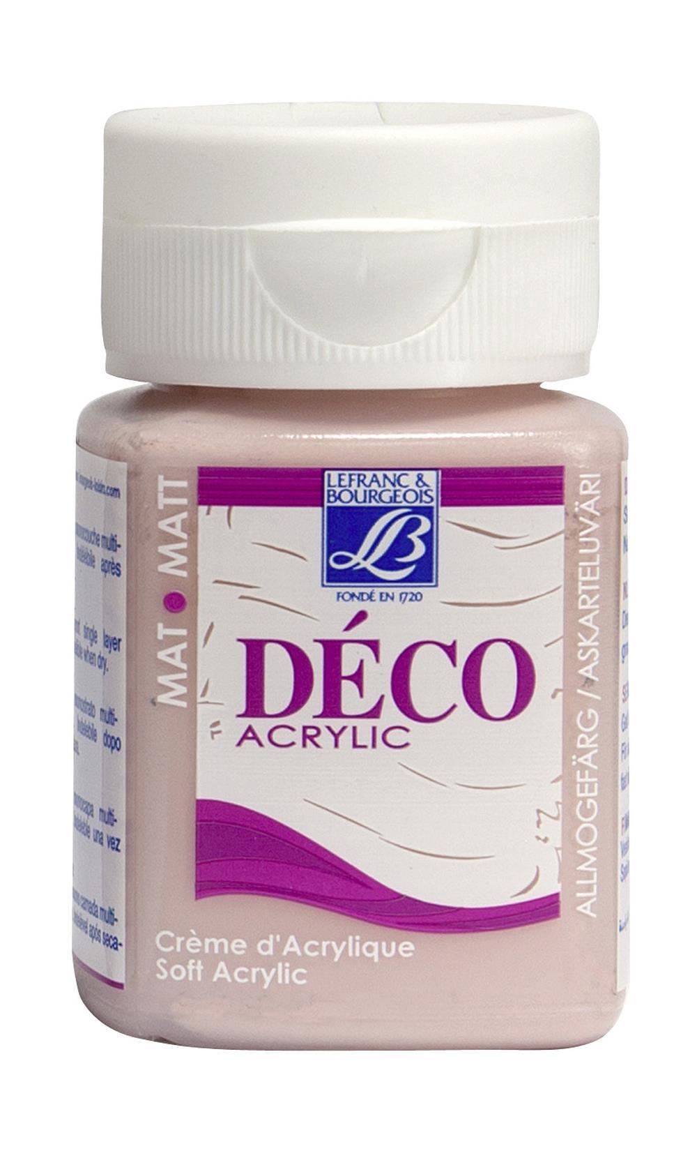 Hobbyfärg L&B Deco Matt Akryl 50ml Tender pink warm 317 (4F) utgått