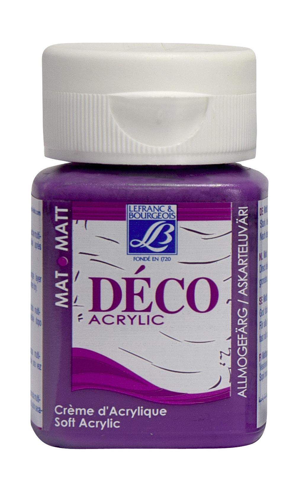 Hobbyfärg L&B Deco Matt Akryl 50ml Lilac intensive 660 (4F) Utgår