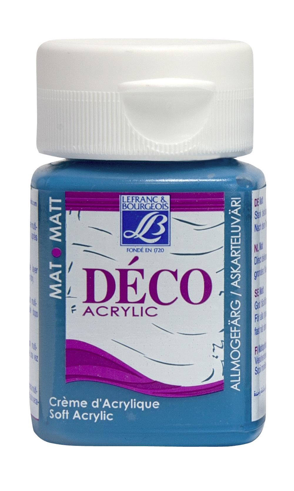 Hobbyfärg L&B Deco Matt Akryl 50ml Turquoise warm 058 (4F) utgått