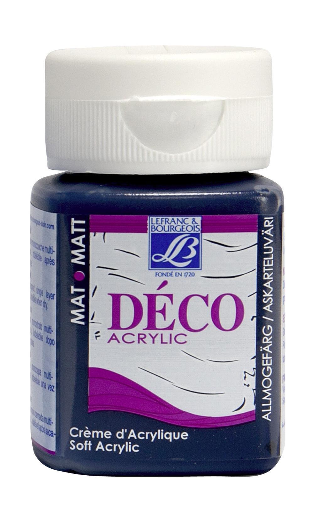 Hobbyfärg L&B Deco Matt Akryl 50ml Prussian blue warm 046 (4F) Utgår