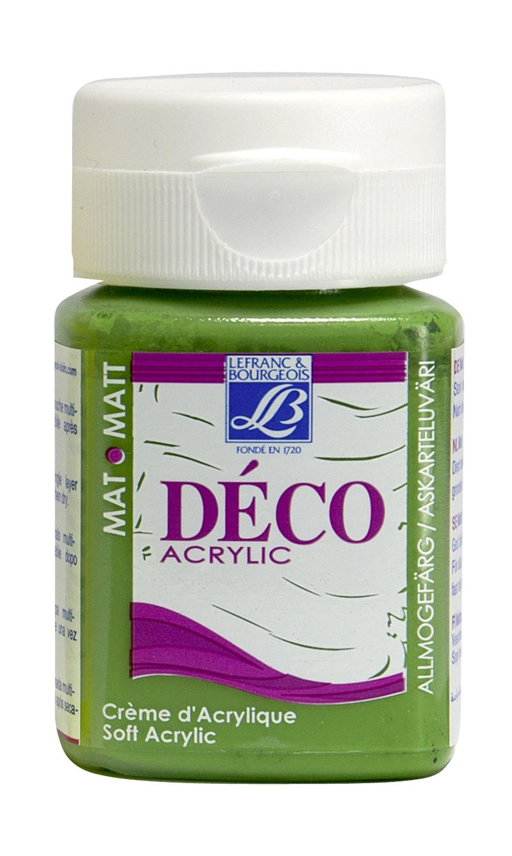 Hobbyfärg L&B Deco Matt Akryl 50ml Chlorophyll green warm 571 (4F)