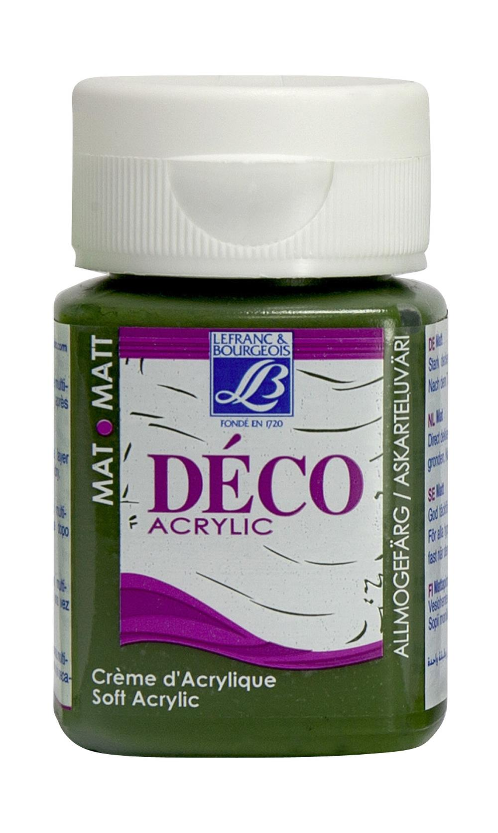 Hobbyfärg L&B Deco Matt Akryl 50ml Moss green warm 540 (4F) Utgår