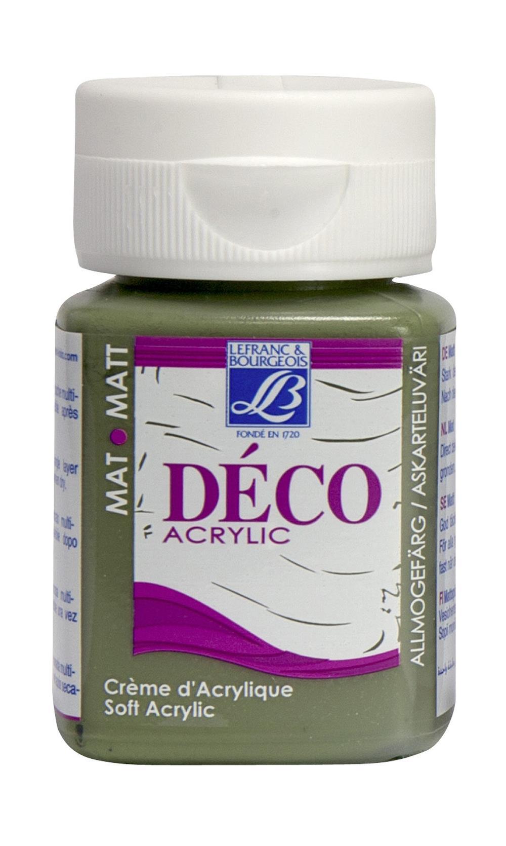 Hobbyfärg L&B Deco Matt Akryl 50ml Olive green nature 599 (4F) Utgår