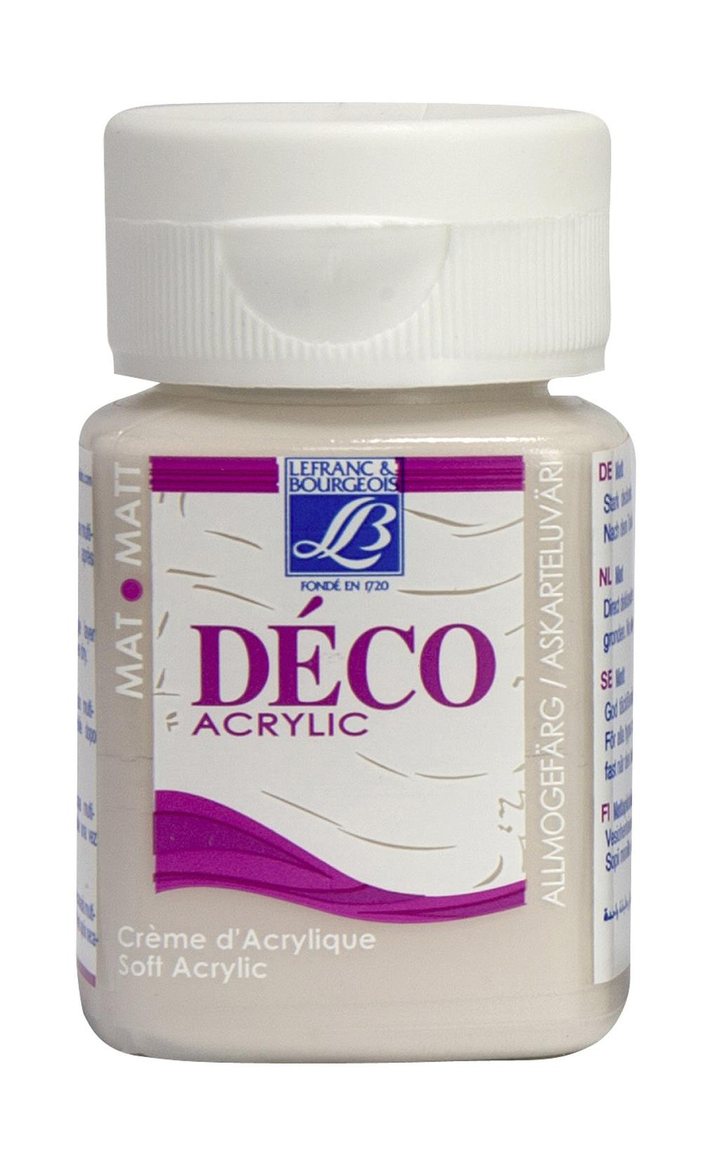 Hobbyfärg L&B Deco Matt Akryl 50ml Powder pink warm 871 (4F) Utgår