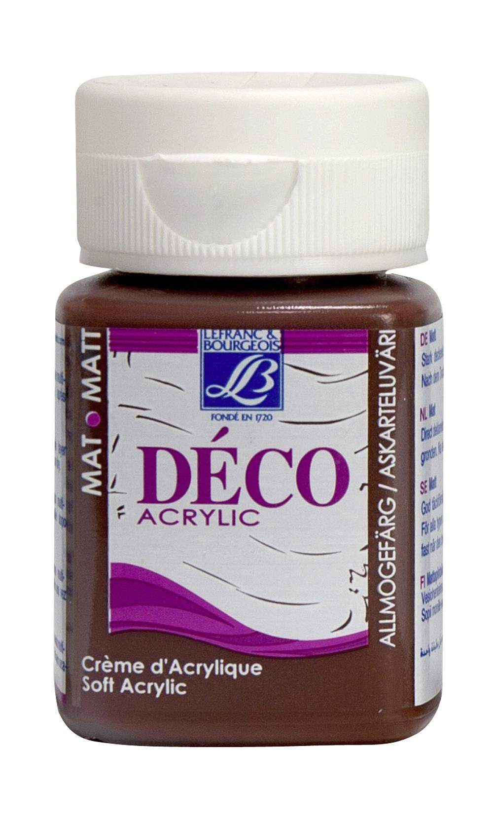 Hobbyfärg L&B Deco Matt Akryl 50ml Hot chocolate warm 116 (4F) Utgår